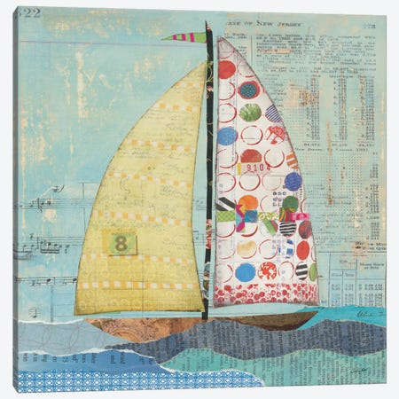 At The Regatta Sail I Canvas Print #WAC7610} by Courtney Prahl Canvas Artwork