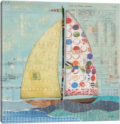 At The Regatta Sail I Canvas Art Print