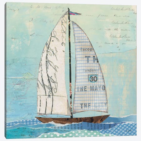 At The Regatta Sail II Canvas Print #WAC7611} by Courtney Prahl Canvas Art