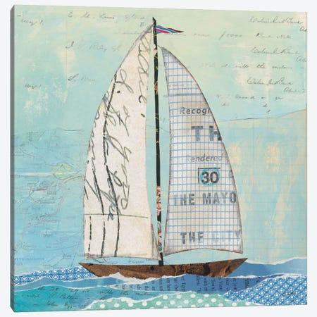 At The Regatta Sail II Canvas Print #WAC7611} by Courtney Prahl Canvas Art