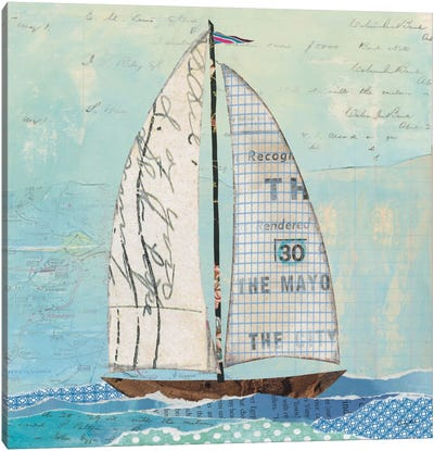 At The Regatta Sail II Canvas Art Print