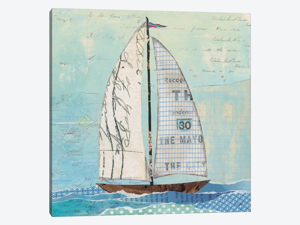 At The Regatta Sail II by Courtney Prahl 1-piece Canvas Artwork