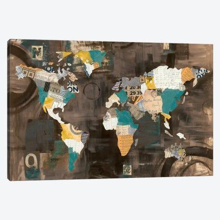 Golden World On Brown Canvas Print #WAC7616} by Courtney Prahl Canvas Art Print