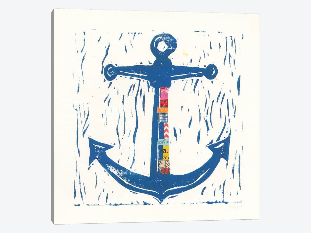 Nautical Collage III by Courtney Prahl 1-piece Canvas Artwork