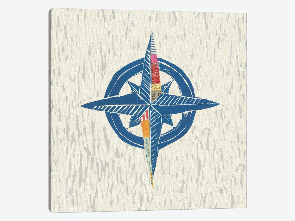 Nautical Collage On Linen I by Courtney Prahl 1-piece Canvas Print