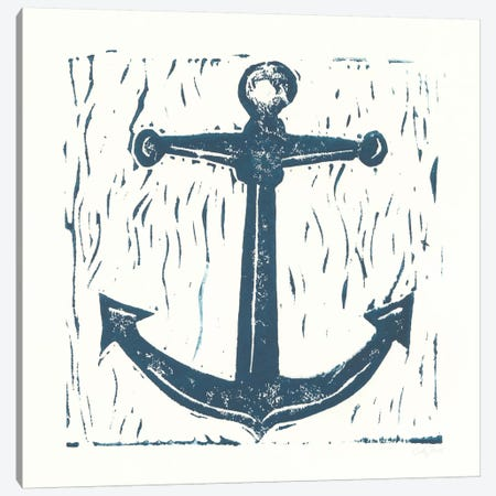 Nautical Collage On White III Canvas Print #WAC7631} by Courtney Prahl Canvas Art