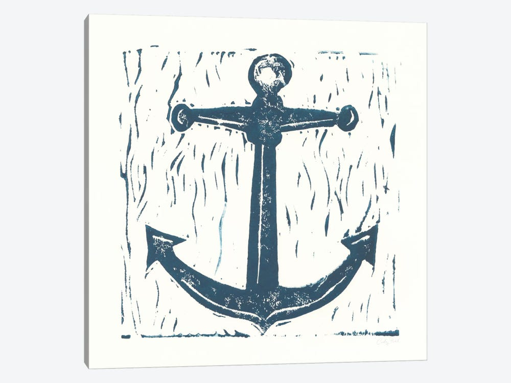 Nautical Collage On White III by Courtney Prahl 1-piece Canvas Artwork