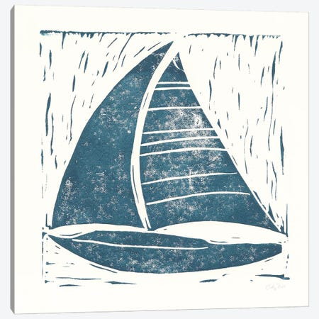 Nautical Collage On White IV Canvas Print #WAC7632} by Courtney Prahl Canvas Artwork