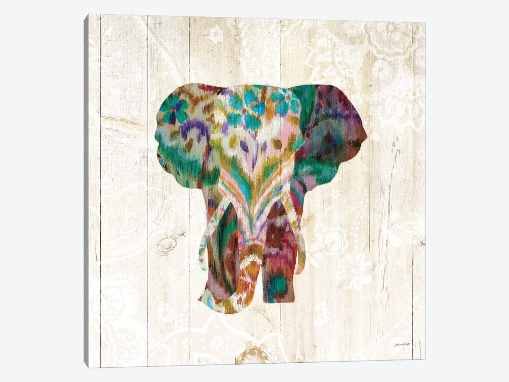 Boho Paisley Elephant III by Danhui Nai 1-piece Canvas Wall Art