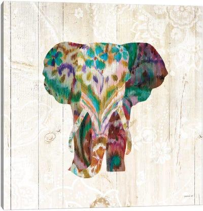 Boho Paisley Elephant III Canvas Art Print
