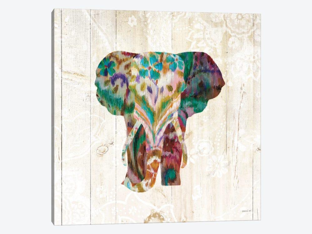 Boho Paisley Elephant III by Danhui Nai 1-piece Canvas Wall Art