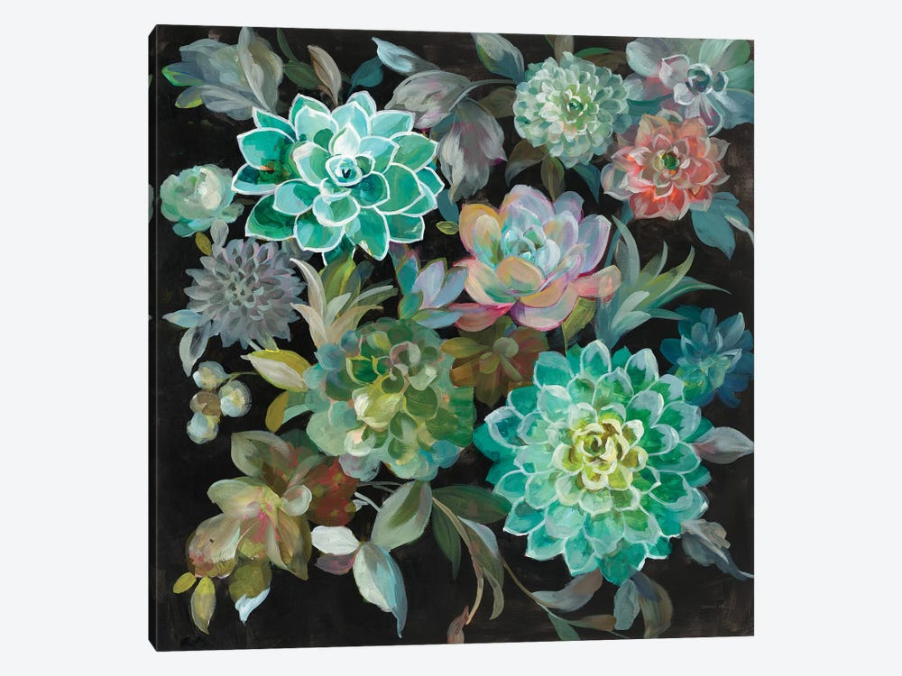 Floral Succulents by Danhui Nai 1-piece Canvas Print