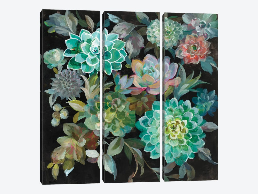 Floral Succulents by Danhui Nai 3-piece Art Print