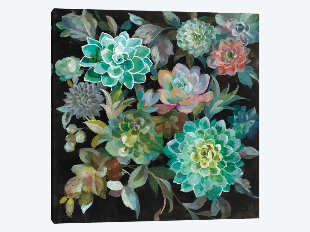 Floral Succulents by Danhui Nai 1-piece Canvas Print