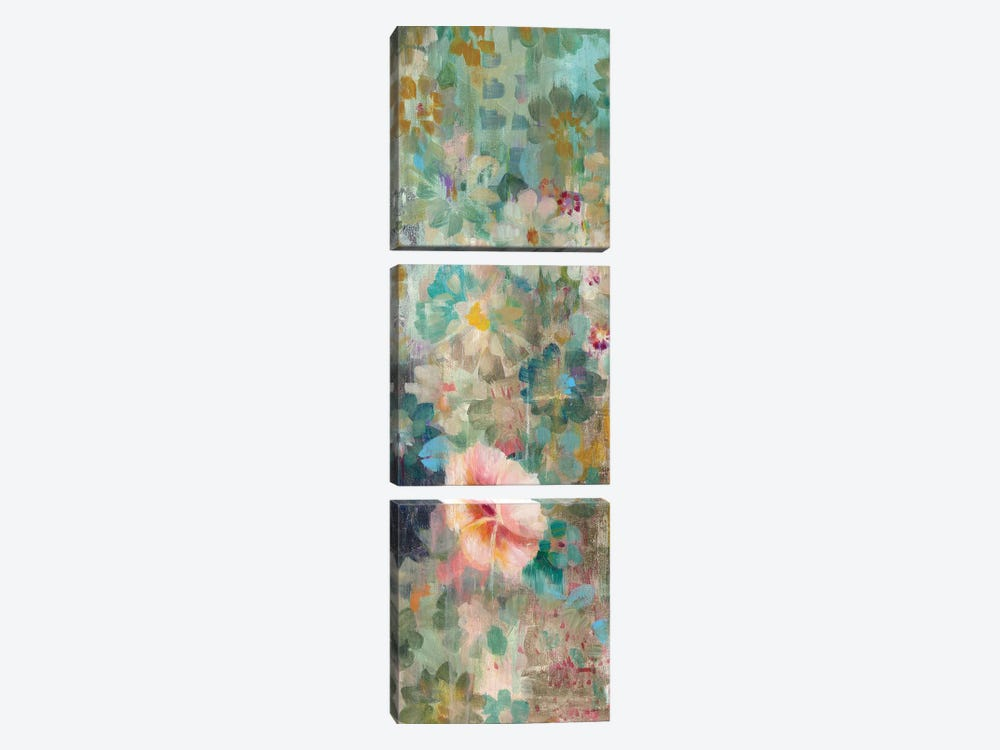 Flower Shower II by Danhui Nai 3-piece Canvas Artwork