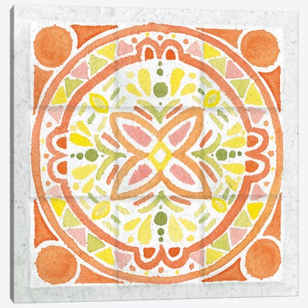 Citrus Tile I Canvas Print #WAC7670} by Elyse DeNeige Canvas Wall Art