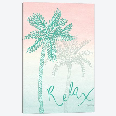 Sunset Palms I Canvas Print #WAC7677} by Elyse DeNeige Canvas Print