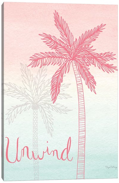 Sunset Palms III Canvas Art Print