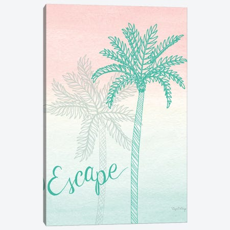 Sunset Palms IV Canvas Print #WAC7680} by Elyse DeNeige Canvas Art Print