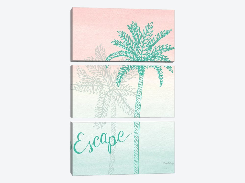 Sunset Palms IV by Elyse DeNeige 3-piece Canvas Art