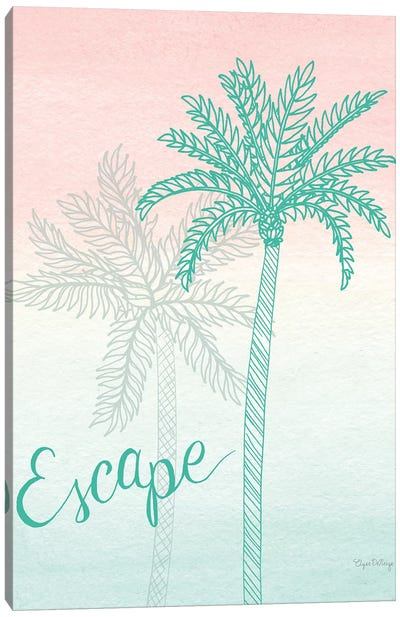 Sunset Palms IV Canvas Art Print