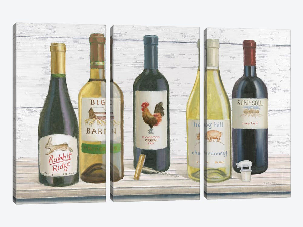 Vintner's Recess I by Emily Adams 3-piece Canvas Art
