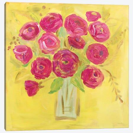 Burst Of Poppies Bright Canvas Print #WAC7688} by Farida Zaman Canvas Art Print