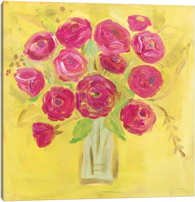 Burst Of Poppies Bright Canvas Art Print