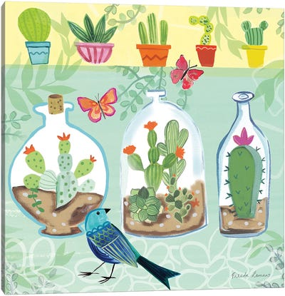Cacti Garden I Canvas Art Print