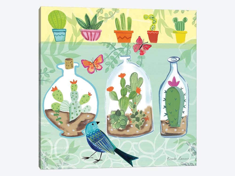 Cacti Garden I by Farida Zaman 1-piece Canvas Print