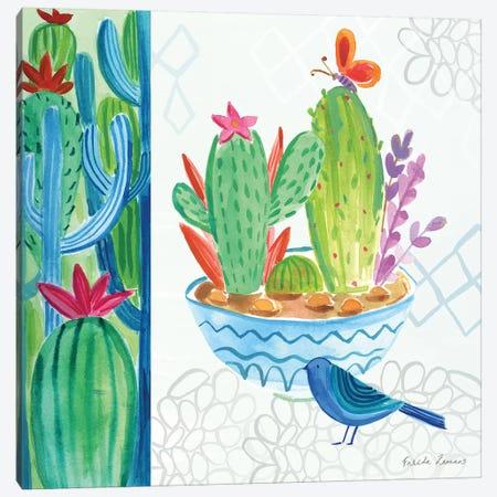 Cacti Garden II Canvas Print #WAC7690} by Farida Zaman Canvas Art