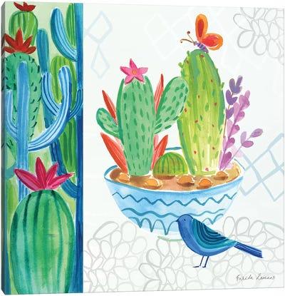 Cacti Garden II Canvas Art Print