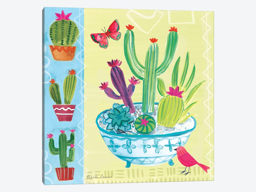 Cacti Garden III by Farida Zaman 1-piece Canvas Wall Art