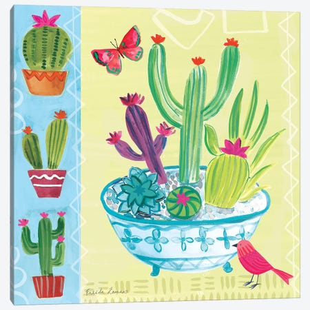 Cacti Garden III 3-Piece Canvas #WAC7691} by Farida Zaman Canvas Wall Art