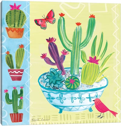 Cacti Garden III Canvas Art Print