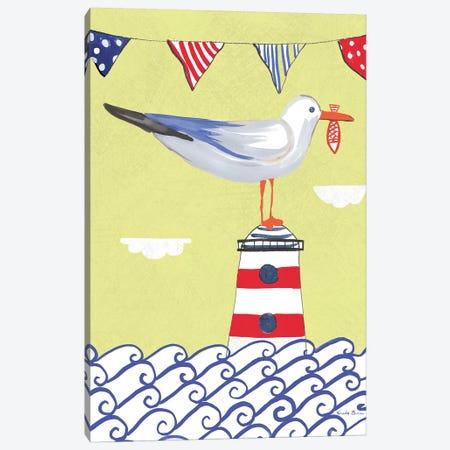 Coastal Bird Flags I Canvas Print #WAC7693} by Farida Zaman Canvas Artwork