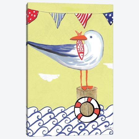 Coastal Bird II Canvas Print #WAC7694} by Farida Zaman Art Print