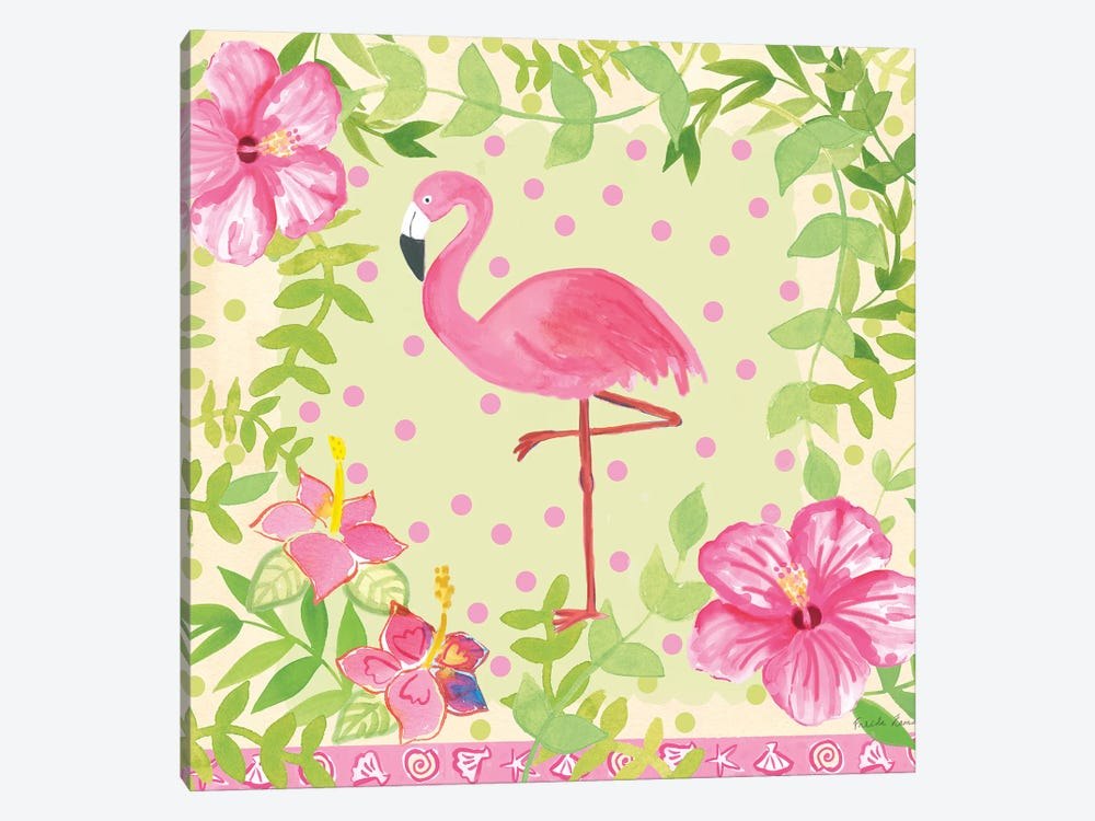 Flamingo Dance I by Farida Zaman 1-piece Canvas Art