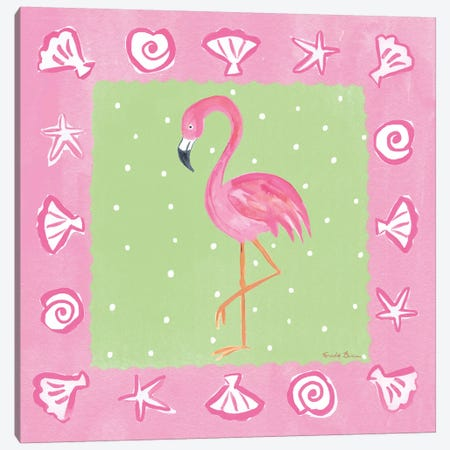 Flamingo Dance II Canvas Print #WAC7702} by Farida Zaman Canvas Artwork