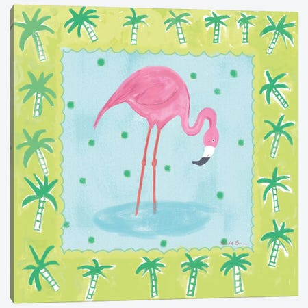 Flamingo Dance III Canvas Print #WAC7703} by Farida Zaman Canvas Artwork