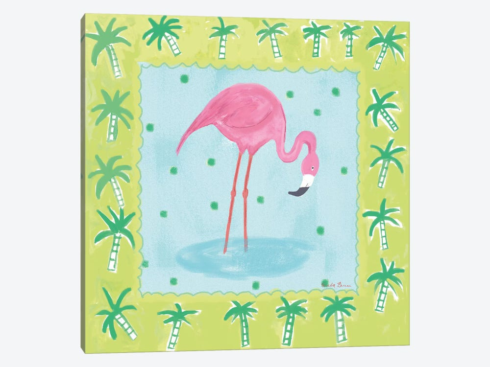 Flamingo Dance III by Farida Zaman 1-piece Canvas Artwork