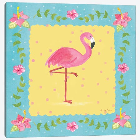 Flamingo Dance V Canvas Print #WAC7705} by Farida Zaman Canvas Print