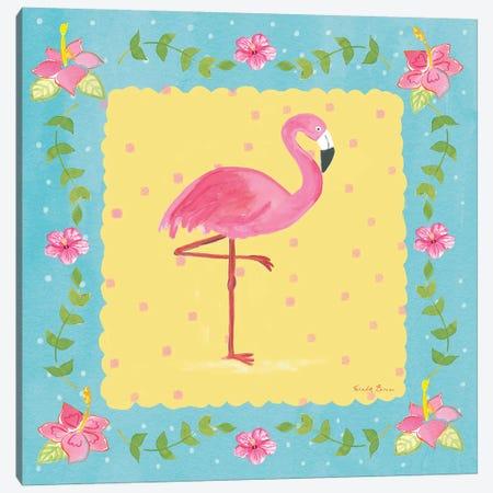 Flamingo Dance V Canvas Print #WAC7705} by Farida Zaman Canvas Print