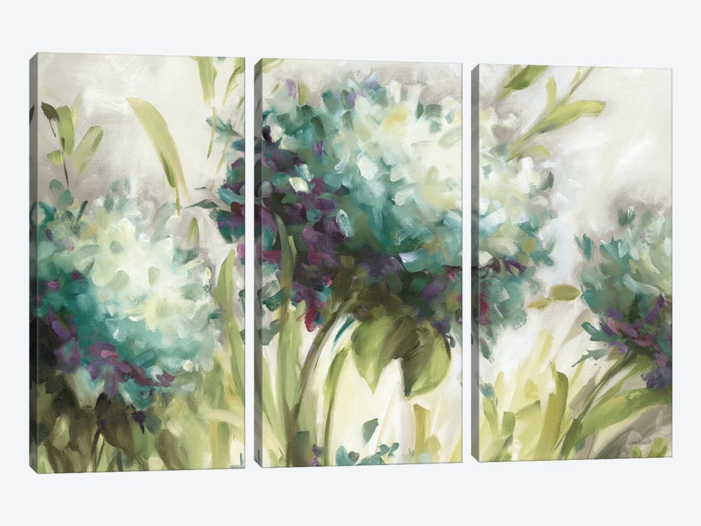 Hydrangea Field by Lisa Audit 3-piece Canvas Artwork