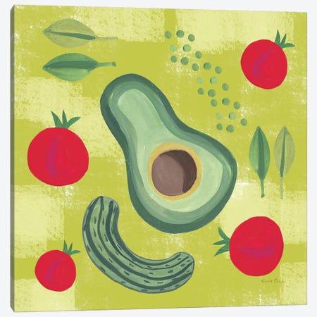 Veggie Time II 3-Piece Canvas #WAC7711} by Farida Zaman Canvas Print