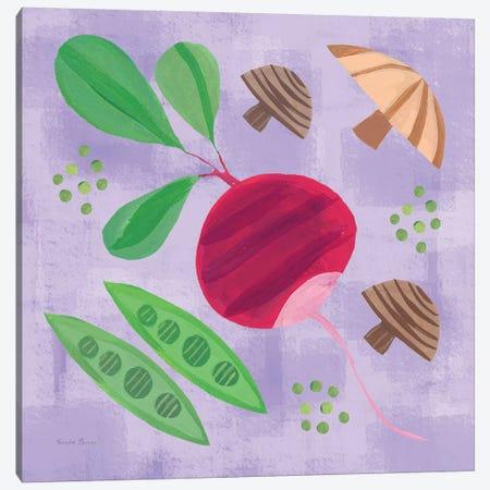 Veggie Time III Canvas Print #WAC7712} by Farida Zaman Canvas Art Print