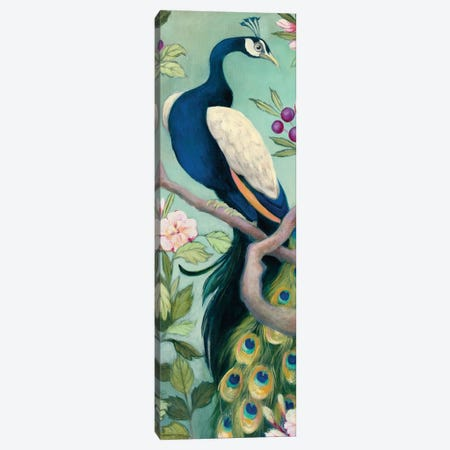 Pretty Peacock I Canvas Print #WAC7726} by Julia Purinton Canvas Print