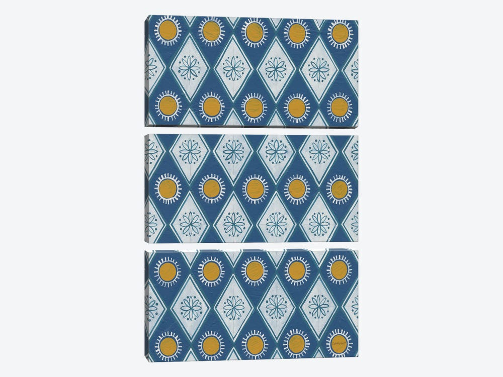 Sunny Designs I by Kathrine Lovell 3-piece Canvas Wall Art