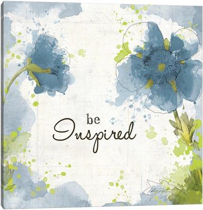You Shine I: Blue Be Inspired Canvas Art Print