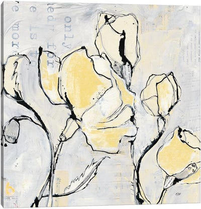 16 Again II: With Yellow Canvas Art Print